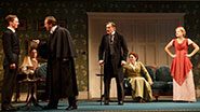Spencer Davis Milford as Ronnie Winslow, Zachary Booth as Dickie Winslow, Alessandro Nivola as Sir Robert Morton, Roger Rees as Arthur Winslow, Mary Elizabeth Mastrantonio as Grace Winslow and Charlotte Parry as Catherine Winslow in The Winslow Boy.