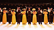Curtain call following Alvin Ailey's 'Revelations.'