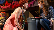 Julie White as Tanya and Carolyn Braver as Zoe in 'Airline Highway'