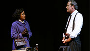 Brenda Pressley as Luisa & James McCaffrey as Pappas in 'Almost Home'