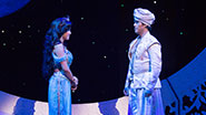 Courtney Reed as Jasmine and Adam Jacobs as Aladdin in Aladdin.