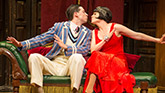 Alex Mandell and Amelia McClain in The Play That Goes Wrong on Broadway.