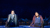 Andy Karl as Phil and Barrett Doss as Rita in Groundhog Day on Broadway.