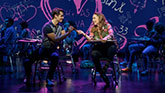 Kyle Selig as Aaron Samuels and Erika Henningsen as Cady Heron in Mean Girls on Broadway