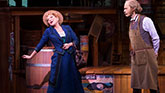 Bette Midler as Dolly Levi and David Hyde Pierce as Horace Vandergelder in Hello Dolly on Broadway.