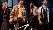 Robert Cuccioli and the cast of  'Bikeman'