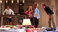 Philip Ettinger as Jonah, Molly Ranson as Melody, Tracee Chimo as Daphna and Michael Zegen as Liam in Bad Jews.