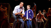 "Nick Cordero as Sonny and Hudson Loverro as young Calogero in ""A Bronx Tale"""