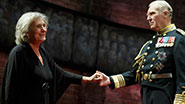 Margot Leicester as Camilla and Tim Pigott-Smith as King Charles III in 'King Charles III'
