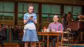Caitlin Houlahan as Dawn and Chris Fitzgerald as Ogie in Waitress on Broadway.