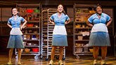 Caitlin Houlahan as Dawn, Sara Bareilles as Jenna and Charity Angel Dawson as Becky in Waitress on Broadway.