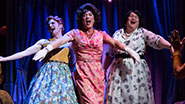 Nick Westrate as Gloria, Patrick Page as Valentina & Tom McGowan as Bessie in 'Casa Valentina'