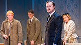 Matthew James Thomas, Gabriel Ebert, Steven Boyer and Charlotte Parry in Time and the Conways.