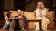 Sarah Steele as Susie Keegan, Eric Lange as Elliot Cooper and Blythe Danner as Anna Patterson in 'The Country House'