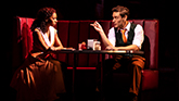 "Christiani Pitts as ""Ann Darrow"" and Eric William Morris ""Carl Denham""  in King Kong on Broadway"