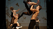 A scene from Cirque Eloize Cirkopolis.