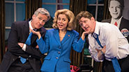 Tom Galantich as WJ Clinton, Kerry Butler as Hillary Clinton & Duke Lafoon as Billy Clinton in 'Clinton the Musical'