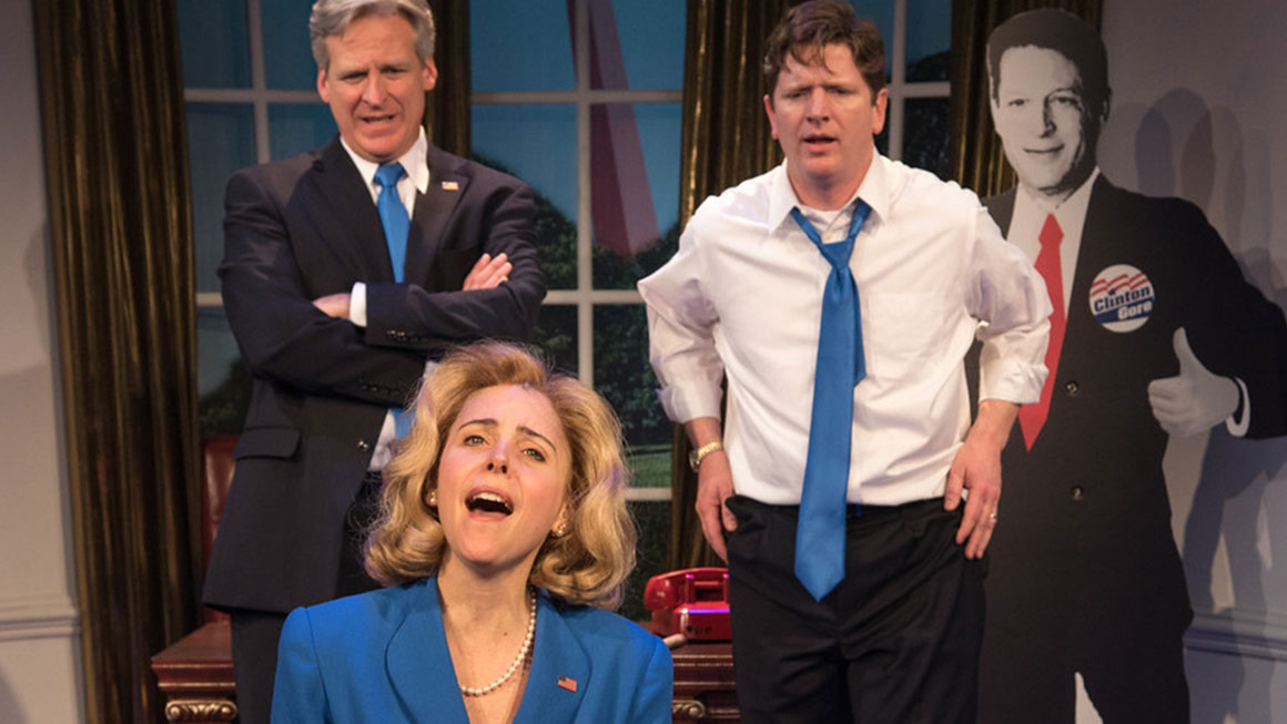 Judy Gold as Linda Tripp & Veronica J. Kuehn as Monica Lewinsky in 'Clinton the Musical'