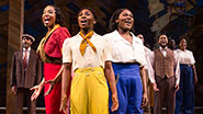 Heather Headley as Shug, Cynthia Erivo  as Celie, Danielle Brooks as Sofia & the cast of 'The Color Purple'