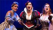 Becky Gulsvig as Cinderella, Michelle Knight as Snow White and Jen Bechter as Sleeping Beauty in 'Disenchanted!'