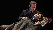 Bradley Cooper as John Merrick and Alessandro Nivola as Dr. Fredrik Treves in 'The Elephant Man'