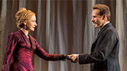 Patricia Clarkson as Mrs. Kendal and Alessandro Nivola as Dr. Fredrik Treves in 'The Elephant Man'