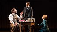 Bradley Cooper as John Merrick, Alessandro Nivola as Dr. Fredrik Treves & Patricia Clarkson as Mrs. Kendal in 'The Elephant Man'