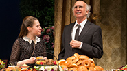 Rachel Resheff and Larry David in 'Fish in the Dark'