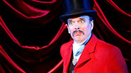 Jefferson Mays as Lord Adalbert D'Ysquith in A Gentleman's Guide to Love and Murder.