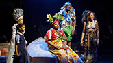 The Gods, Lea Salonga, Alex Newell, Quintin Earl Darrington and Merle Dandridge in Once On This Island Broadway