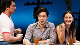 Jon Hoche as Nhan, Ryamond Lee as Quang and Jennifer Ikeda as  Raymond Lee as Quang and Jon Hoche as Nhan in 'Vietgone'