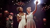 Denee Benton as Natasha and The Cast of Natasha, Pierre & The Great Comet of 1812 on Broadway.