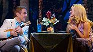 Tony Danza as Tommy Korman and Brynn O'Malley as Betsy Nolan in 'Honeymoon in Vegas'