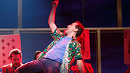 Rob McClure as Jack Singer and the cast of 'Honeymoon in Vegas'