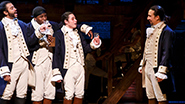 Daveed Diggs as Marquis de Lafayette, Okieriete Onaodowan as Hercules Mulligan, Anthony Ramos as John Laurens and Lin-Manuel Miranda as Alexander Hamilton in 'Hamilton'