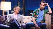 Tony Danza as Tommy Korman and Rob McClure as Jack Singer in 'Honeymoon in Vegas'