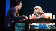 Rob McClure as Jack Singer and Nancy Opel as Bea Singer in 'Honeymoon in Vegas'