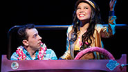 Rob McClure as Jack Singer and Catherine Ricafort as Mahi in 'Honeymoon in Vegas'