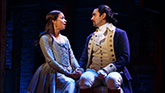 "Javier Munoz as Alexander Hamilton and Lexi Lawson as Eliza Hamilton in ""Hamilton"""