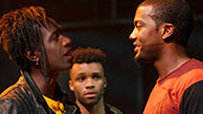 Saul Williams as John, Dyllon Burnside as Anthony & Joshua Boone as Darius in 'Holler If You Hear Me'