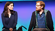 Idina Menzel as Elizabeth & Anthony Rapp as Lucas in 'If/Then'