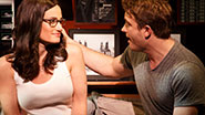Idina Menzel as Elizabeth & James Snyder as Josh in 'If/Then'