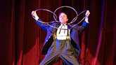 "The eccentric, Charlie Frye in ""The Illusionists"""