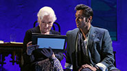 Rosemary Harris as Eleanor & Bhavesh Patel as Anish Das in 'Indian Ink'