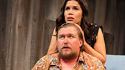 Michael Chernus as Sam & America Ferrera as Sally in 'Lips Together, Teeth Apart'