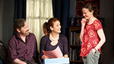 Jeremy Shamos as Michael Fischer, Kate Walsh as Holly Fischer and Maria Dizzia as Sharon Fischer in If I Forget on Broadway