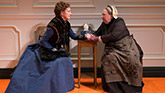Julie White as Nora and Jayne Houdyshell as Anne Marie in A Doll's House Part 2.