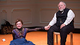 Julie White as Nora and Stephen McKinley Henderson as Torvald in A Doll's House Part 2.