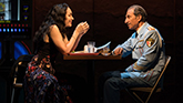 Katrina Lenk and Sasson Gabay in The Band's Visit on Broadway