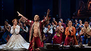 Kelli O'Hara as Anna, Ken Watanabe as the King of Siam & the cast of 'The King and I'